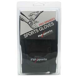 Flexsports International Pro Spandex Sports Gloves Black/Black