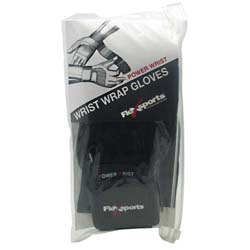 Flexsports International Power Wrist Sports Gloves Black/Black