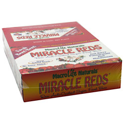 Macro Life Naturals Miracle Reds Raw Anti-Oxidant Super Food Bars