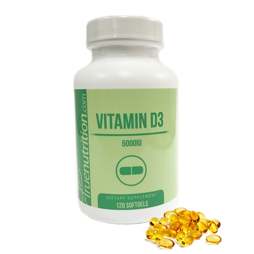 Vitamin D3 5000IU Softgels (120 Softgels)
